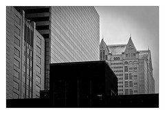 Chicago's buildings (Jean-Louis DUMAS) Tags: city cityscape architecture architect architecte architectural architecturale bâtiment building reflecting chicago sony art batiment twop noretblanc tower award monochrome noir blanc black white bn bnw nb ngc noiretblanc bw photos maniac noireblanc illinois blackandwhite blackwhite blackwhitephotos noirblanc