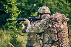 Plural focus (Kot Orator) Tags: military nature portrait uniforms sony alfa trees leaves summer scenes asg gun weapon m16 rifle helmet poland poznan helios helios44m vintage replica