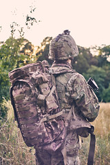 Breach in forest (Kot Orator) Tags: military nature portrait uniforms sony alfa trees leaves summer scenes asg gun weapon rifle helmet poland poznan helios helios44m vintage replica