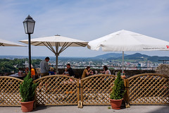 Dining with a view (timnutt) Tags: eating landscape österreich restaurant austria city fujifilm osterreich x100 food fortress people diner dining fuji bavaria x100t meal festung fort osterreichsalzburg