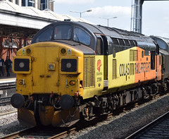 Nottingham (DarloRich2009) Tags: 37057 d6757 colasrailfreight colasrail class37 37099 nottingham nottinghamstation nottinghamshire nottinghamrailwaystation
