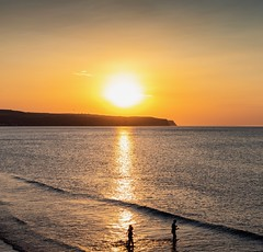 Summertime, and the livin' is easy. (Darren Speak) Tags: water sunset sea sunshine whitby
