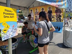 ITA_IDC_SHA_PedBikeSpinArtscape_072019_006 (Idle Time Ads) Tags: streetteam publicoutreach itapromotions idletimeadvertising maryland washington dc virginia artscape baltimore pedestriansafety bicyclesafety spinart mdot sha