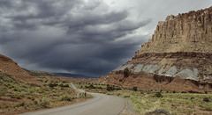 The Castle (Alan Vernon.) Tags: capitolreef red cliff castle rock landscape utah sandstone rocks cliffs formation capitol reef graygreen wingate chinle