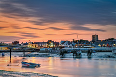Shoreham in The Golden Hour (Dave Sexton) Tags: shoreham west sussex england united kingdom uk river sand wet reflections boats bridge sunset golden hour lumix s1r panasonic 24105mm f40 dxo photolab affinityphoto arora