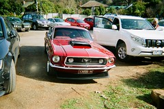 1968 Ford Mustang (Matthew Paul Argall) Tags: kodakflashsingleusecamera 35mmfilm disposablecamera singleusecamera 800isofilm kodak800 car vehicle automobile transportation classiccar fordmustang