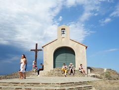 Chapelle Saint-Vincent (Kaeko) Tags: ocean trip travel sea vacation holiday france town europe resort collioure people cross chapel chapelle chapellesaintvincent