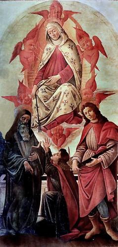 IMG_4101S Botticelli (Alessandro Filipepi) 1445-1510 Firenze Ascension de la Vierge avec Saints Benoit, Thomas l'apôtre et Julien Galleria Nazionale di Parma Atelier