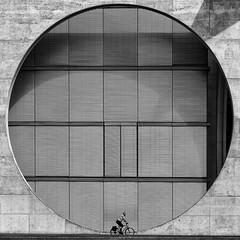 Bike in a Circle (Leipzig_trifft_Wien) Tags: berlin deutschland shadow bike urban city monochrome blackandwhite bnw black white person people human street geometry
