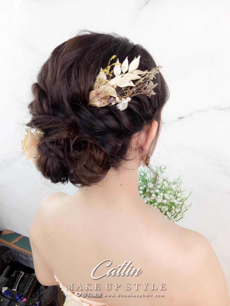 【新秘Catlin】新娘造型創作 / 甜美低盤髮