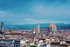 Florence in Italy (Snaaaax) Tags: d600 nikon nikon70200 florencja florence firence firenze italy wlochy blue fiore cathedral duomo vecchio palazzo panorama giotto campanile tower bell city landscape
