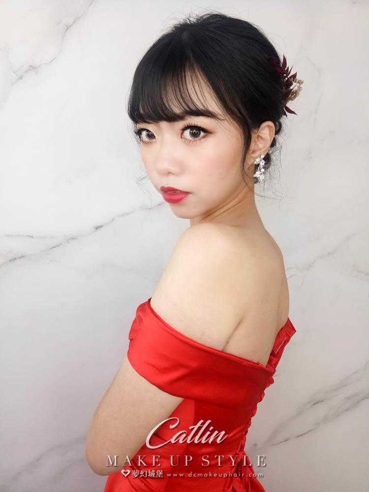 【新秘Catlin】新娘造型創作 / 唯美盤髮造型