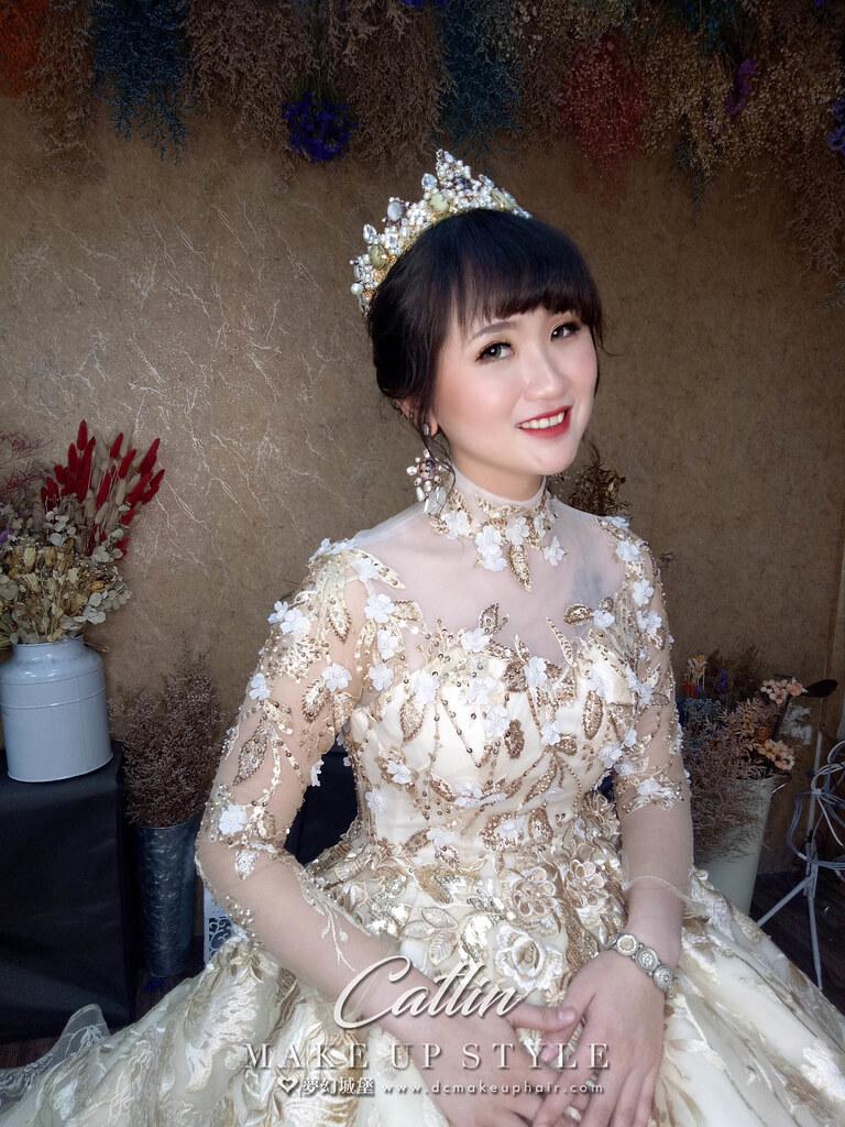 【新秘Catlin】新娘造型創作 / 宮廷皇冠造型