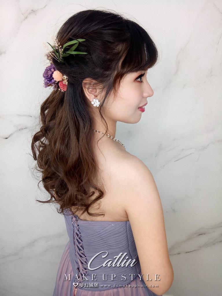 【新秘Catlin】新娘造型創作 / 乾燥花公主頭