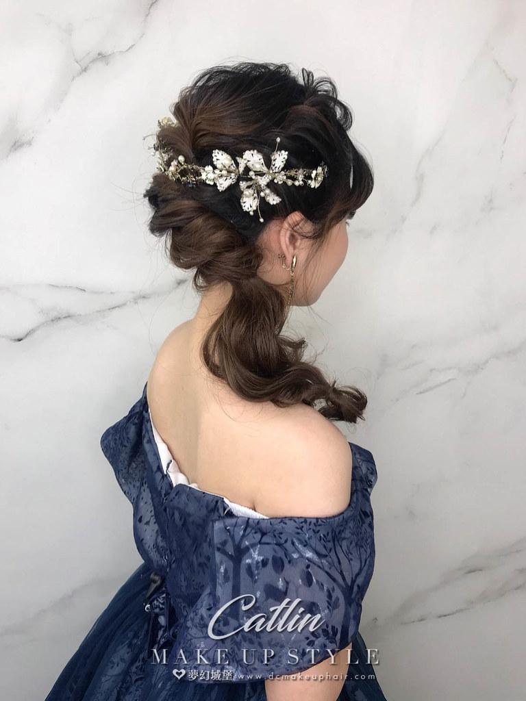 【新秘Catlin】新娘造型創作 / 側放編髮造型