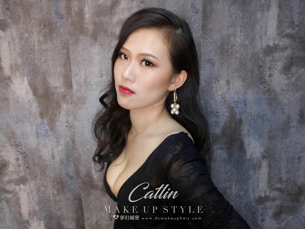 【新秘Catlin】新娘造型創作 / 自然放卷造型