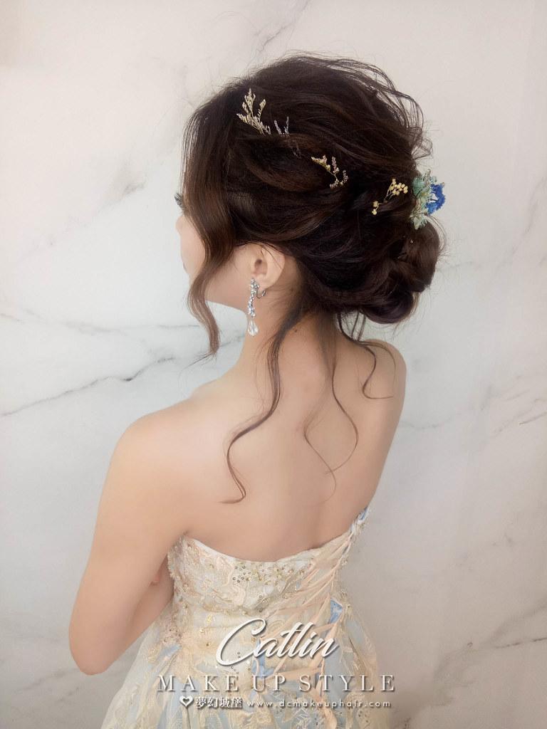 【新秘Catlin】新娘造型創作 / 仙女系盤髮