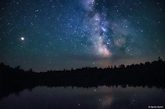 Milky Way in the North Woods (WOODSHED Revisited) Tags: milky way stars astronomy night sky north woods grand portage state forest hovland minnesota minn mn arrowhead trail esther lake pentax k30 celestial dark bright reflection marthadecker onlyinmn milkyway northern boreal outside