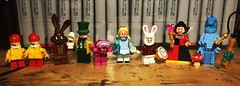 A Very Merry Unbirthday To You (Doctor Allo) Tags: lego alice wonderland disney lewis carroll mad hatter march hare tweedledee tweedledum queen hearts caterpillar who are you white rabbit