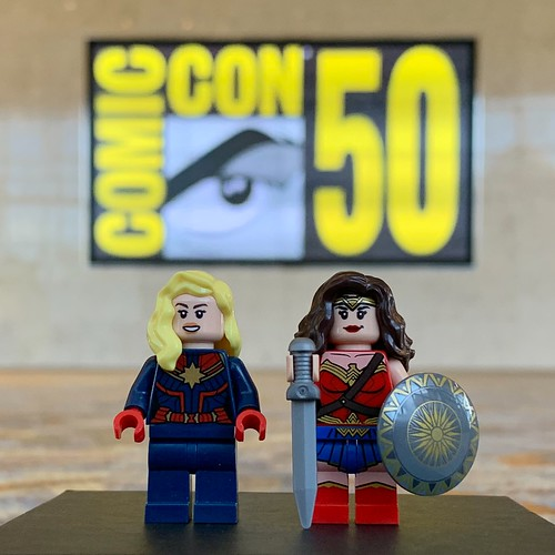 Captain Marvel and Wonder Woman Attend SDCC 2019