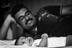 #Daddy's #Boy (Jansha Crazy) Tags: daddy boy nikond3400 nikon nikonindia 50mm blackandwhite father son candit love goals