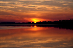 Untitled (Krystian38) Tags: sun sunset golden hour pentax k50 sigma outside outdoor water lake landscape landscapes nature reflections