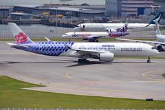 China Airlines Airbus A350-941 B-18918 (Carbon Fibre Livery). (* Raymond C.*) Tags: china airlines airbus a350 a359 b18918 carbon fibre ci hkg vhhh