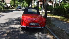ab 1957 Cabriolet Skoda Felicia von AZNP in Mlada Boleslav in 12527 Berlin-Karolinenhof (Bergfels) Tags: technischesdenkmal bergfels madeinczechoslovakia berlin ab 1957 1950er 20jh maschine grosemaschine fahrzeug pkw strasenfahrzeug youngtimer cabriolet skodafelicia skoda felicia skoda450 aznp aznpmladaboleslav 12527 karolinenhof radstand wassergekühlt vierzylinder 4zylinder viertakt ottomotor leistung ps kw masse leermasse geschwindigkeit produktionszeitraum 19571964 polizeilicheskennzeichen bsg151h hkennzeichen beschriftet