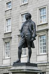 Escultura estatua de Edmund Burke Trinity College Dublin Republica de Irlanda (Rafael Gomez - http://micamara.es) Tags: escultura estatua de edmund burke trinity college dublin republica irlanda
