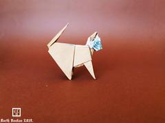 Eco Cat - Barth Dunkan. (Magic Fingaz) Tags: barthdunkan cat chat gato kitten origami origamicat gatto kedi kočka kot kucing mačka paperfolding γάτα кіт мачка ネコ 猫 ecorigami mfpp magicfingaz
