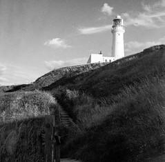 Flamborough Lighthouse (Richie Rue) Tags: lighthouse monochrome coast coastal flamborough blackandwhite 120 6x6 film mediumformat outdoors yorkshire ishootfilm squareformat analogue foma caffenol contemplativephotography filmsnotdead istillshootfilm fomafomapan200 mindfulphotography