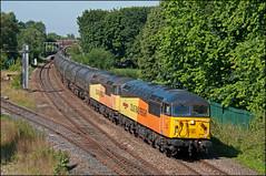 56049 + 56087, Lostock Hall (UK), 23/07/19 (bontybermo402) Tags: colas 6e32 preston docks lindsey oil refinery lostock hall railfreight rail 56049 56087 grid
