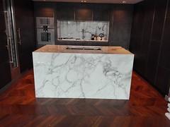 Arabescato-marble-kitchen-island (AcemarStone) Tags: arabescato marble white polished kitchen countertop worktop ombra caravaggio vagli bathroom island vanity