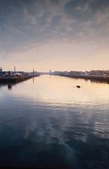 River Liffey, Dublin. (2c..) Tags: river dublin 2cimage digital water marked city ireland stella maris ringsend 1993 liffey sunset evening