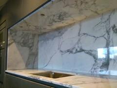 Kitchen-splashback-marble (AcemarStone) Tags: arabescato marble white polished kitchen countertop worktop ombra caravaggio vagli bathroom island vanity
