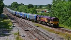 Sunny Bio (JohnGreyTurner) Tags: br rail uk railway train transport brocklesby lincolnshire lincs diesel engine locomotive freight goods 66 class66 shed ews db dbs dbc biomass