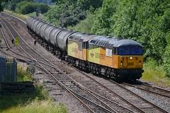 Hello Stranger (JohnGreyTurner) Tags: br rail uk railway train transport brocklesby lincolnshire lincs diesel engine locomotive freight goods 56 class56 grid colas light bitumen tanks