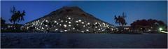 Life is a beach (genelabo) Tags: kalamaki beach photshop kamilari crete greece island light night hill nachtlichter panorama mirror experiment