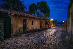Calle de los suspiros (karinavera) Tags: city night photography urban ilcea7m2 sunset rancho blue uruguay colonia calledelossuspiros
