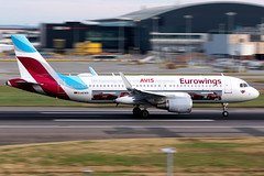 Eurowings | Airbus A320-200 | D-AEWS | AVIS livery | London Heathrow (Dennis HKG) Tags: eurowings germany ewg ew aircraft airplane airport plane planespotting canon 7d 70200 london heathrow egll lhr airbus a320 airbusa320 sharklets daews