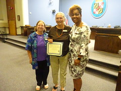 "CCAA's Cindi Barnhart and Gale Kladitis, with Gia Richmond, President, Charles County Commission on Individuals with Disabilities • <a style=""font-size:0.8em;"" href=""http://www.flickr.com/photos/124378531@N04/48365074656/"" target=""_blank"">View on Flickr</a>"