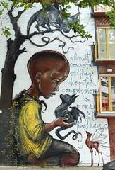 Streetart in Amsterdam (wojofoto) Tags: ifwallscouldspeek amsterdam streetart graffiti mural asa nederland netherland holland wojofoto wolfgangjosten hera herakut