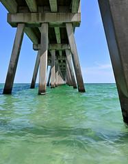 Navarre Beach Pier, Florida (Darren W Brown) Tags: florida navarrebeach usa beach sunshine summer water gulfofmexico nikon nikonz6 nikon2470 getoutdoors getoutside emeraldcoast ocean bluesky seascape landscape