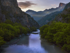 The other side (doraartem) Tags: gorge mountains river greece landscape sunrise nature konitsa aoos zagori epirus