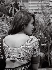 Lost in The Existence (MashrikFaiyaz) Tags: flickrunitedaward asia dhaka bangladesh southasia monochrome blackandwhite outdoor natural light sunlight spring february portrait model fashion girl lady woman female saree dress getup hair sensual attractive posing bareback conceptual people face nikon d5300