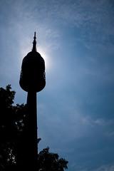 Olympiaturm silhouette (timnutt) Tags: olympiazentrum olympicpark olympiaturm germany city fujifilm x100 munchen silhouette tower sun fuji bavaria sky x100t sport olympics munich