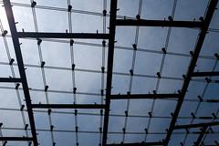 Detail of Frei Otto's acrylic glass roof 'net' (timnutt) Tags: olympiastadion building germany city sportsday fujifilm x100 1970s olympicpark architecture x100t fuji bavaria venue munchen munich olympics olympicstadium