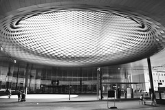 Messe Basel New Hall 7 (RobertLx) Tags: messebasel basel messeplatz switzerland europe modern contemporary architecture opening circular light silver building city travel 64 monochrome bw herzogdemeuron