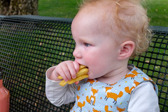 Many fries at once! (timnutt) Tags: toddler x100t munchen molly baby fuji bavaria munich city x100 fujifilm germany