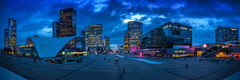 La Défense (Ma.Ha.) Tags: nikond600 night photography blue hour city urban architecture architectural paris france clouds cloudy dark dawn sunrise stitched panorama cnit défense la